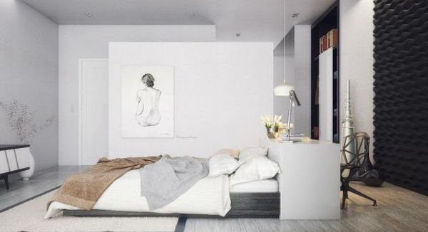 Spacious bedroom with innovative design
