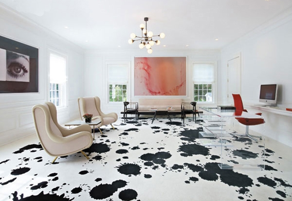 Splatter painted floors