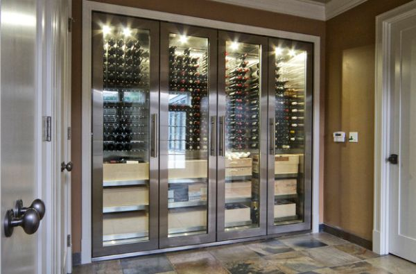 Intoxicating design 29 wine cellar and storage ideas for the view in gallery stainless steel and glass cabinets perfect for a connoisseur eventshaper