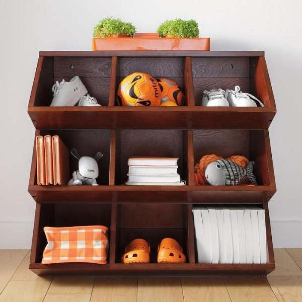 Storage cubby multi-bin unit