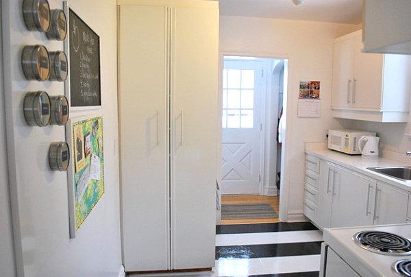 Striped kitchen floor