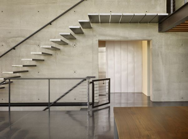 Stylish stair treads make up this floating stairs that could leave many breathless!