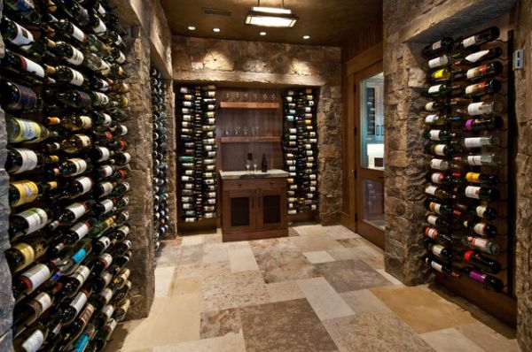 stylish wine cellar for those who prefer the classic look