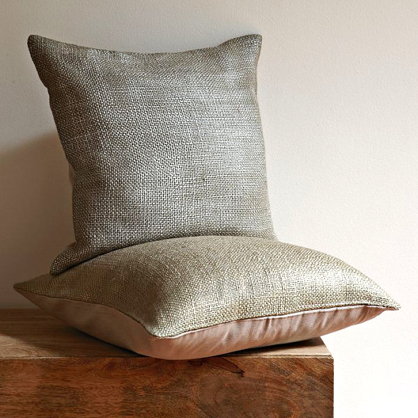 Subtle metallic pillow covers