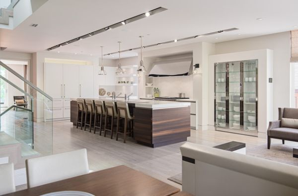 kitchen cabinets with glass doors.  kitchen View in gallery Tall glass cabinets are both decorative and ergonomic 28 Kitchen Cabinet Ideas With Glass Doors For A Sparkling Modern Home