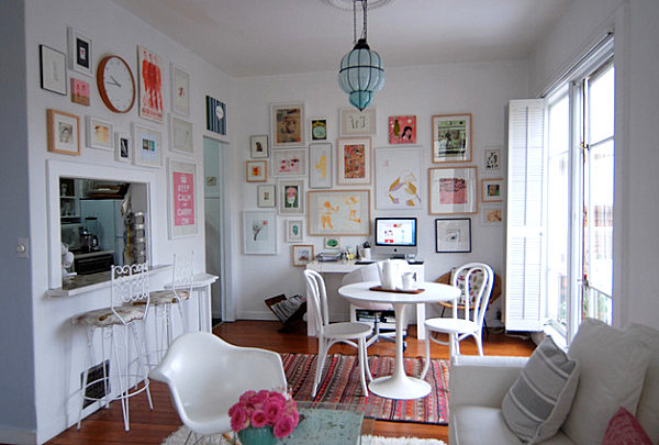 Touches of pastels in an all white room How to Decorate with a Pastel Color Palette