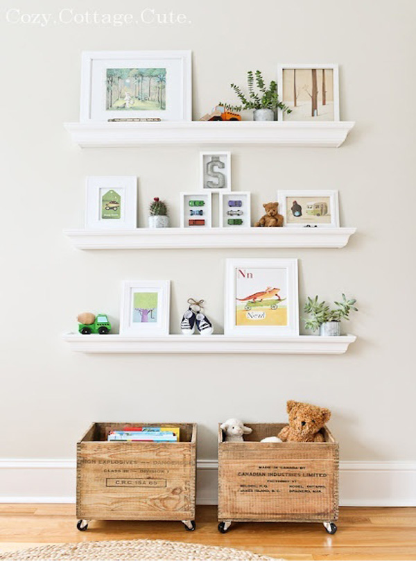 Toy storage wooden crates with wheels Simple Toy Storage Ideas for Easy Organization
