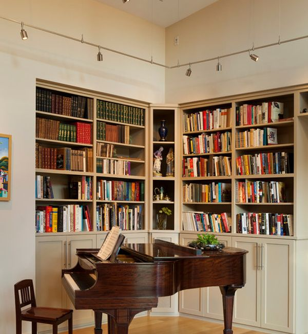 book shelf lighting. view in gallery track lighting is an ideal way to light up home libraries and bookshelves book shelf v