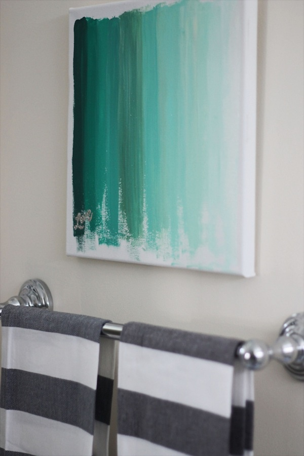 Turquoise ombre canvas wall art