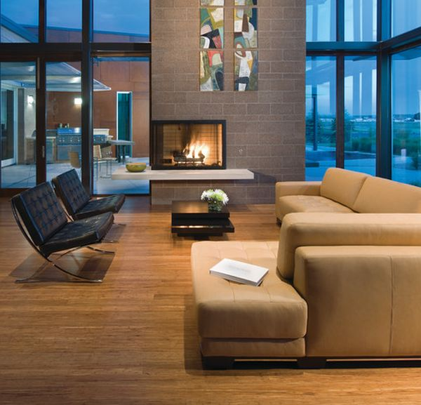 34 modern fireplace designs with glass for the 2 sided fireplace ideas