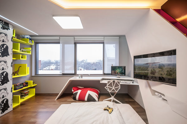 Fabulous contemporary kids 39 bedrooms steal the show with for Union jack bedroom ideas