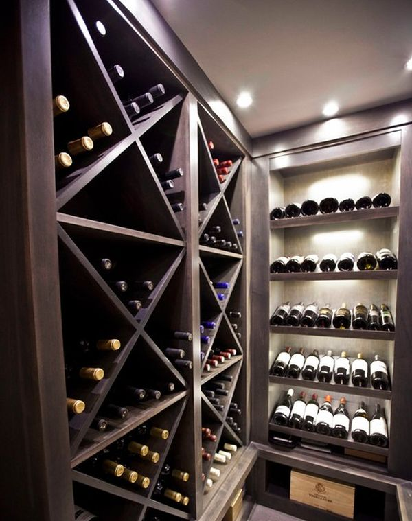Unique cabinets to display an impressive wine collection