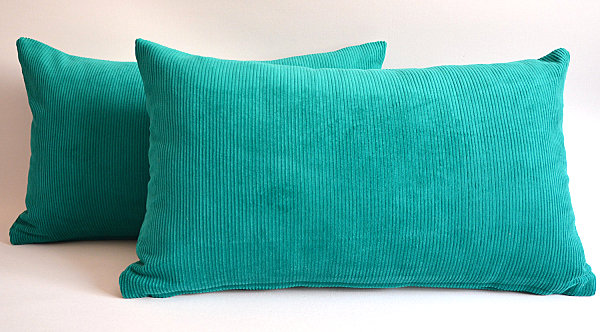 Velvet emerald pillow covers