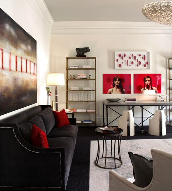 Pictures On Red Black White Home Decor Free Designs Photos