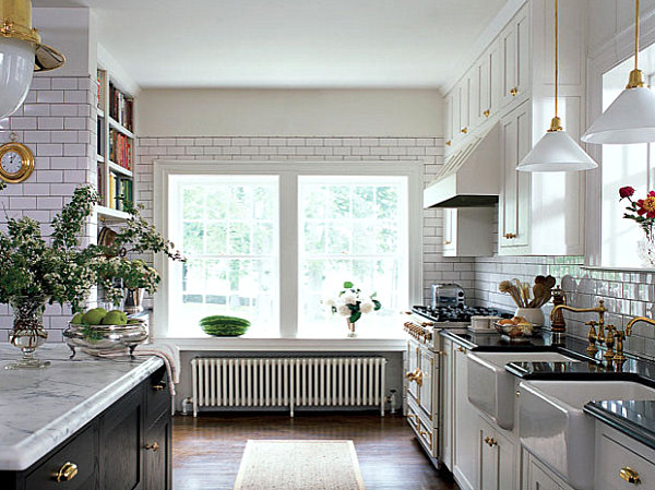White kitchen with fancy details