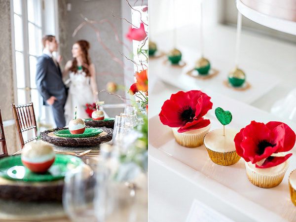 Wizard of Oz-inspired wedding with emerald accents