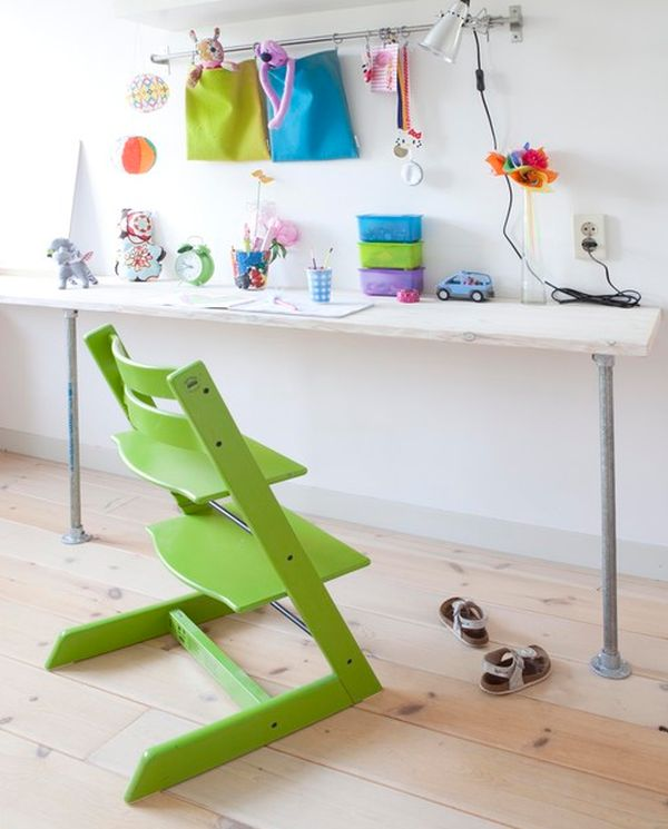 Wonderful chair adds a whole new dimension to this simple desk space