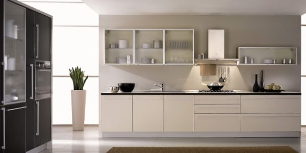 contemporary glass kitchen cabinets 2