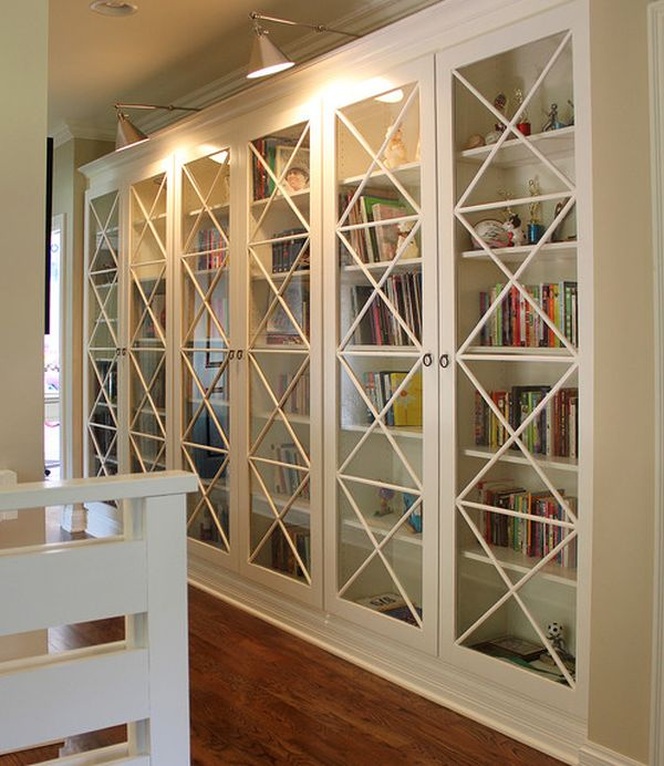 Beautiful View In Gallery X Motif Custom Designed Glass Doors Give These Bookcases An  Inimitable Look