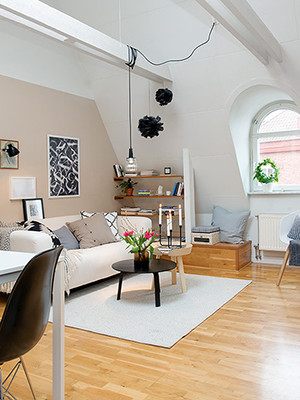 attic apartment sweden design