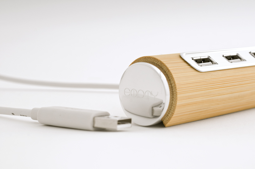 bamboo USB hub Empty Bamboo: Fascinating And Fabulous Stationery Set From Yu Jian