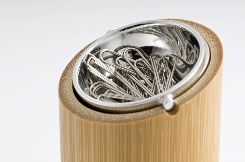 bamboo paper clip box