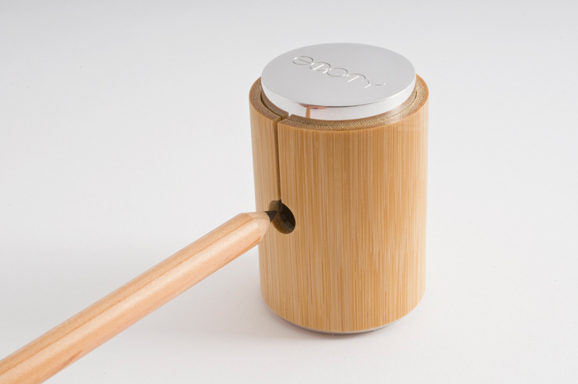 bamboo pencil sharpener