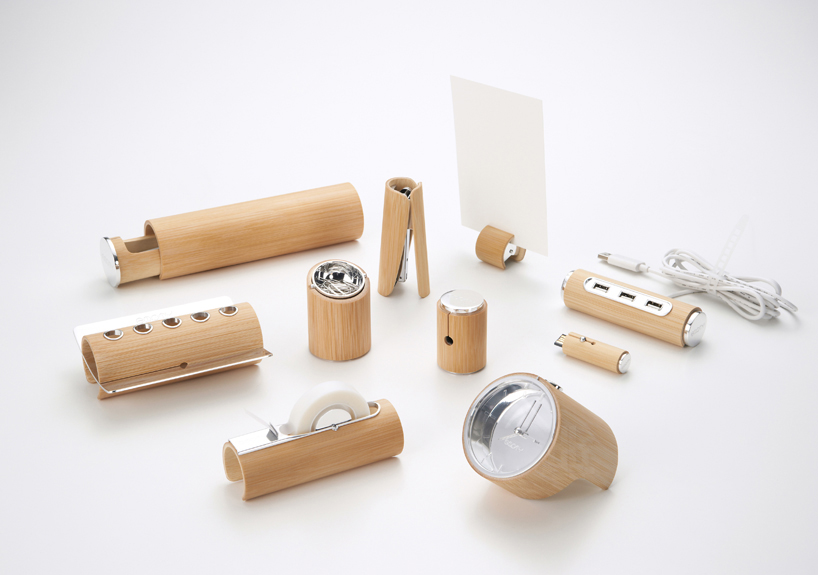 bamboo stationery set for home Empty Bamboo: Fascinating And Fabulous Stationery Set From Yu Jian