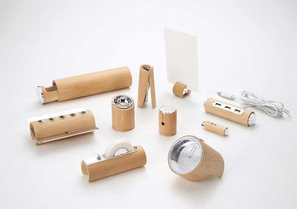 bamboo stationery set