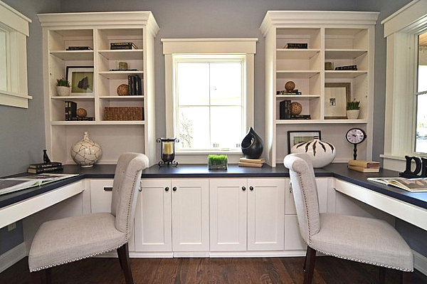 built in storage in a home office Organizing Your Home Office