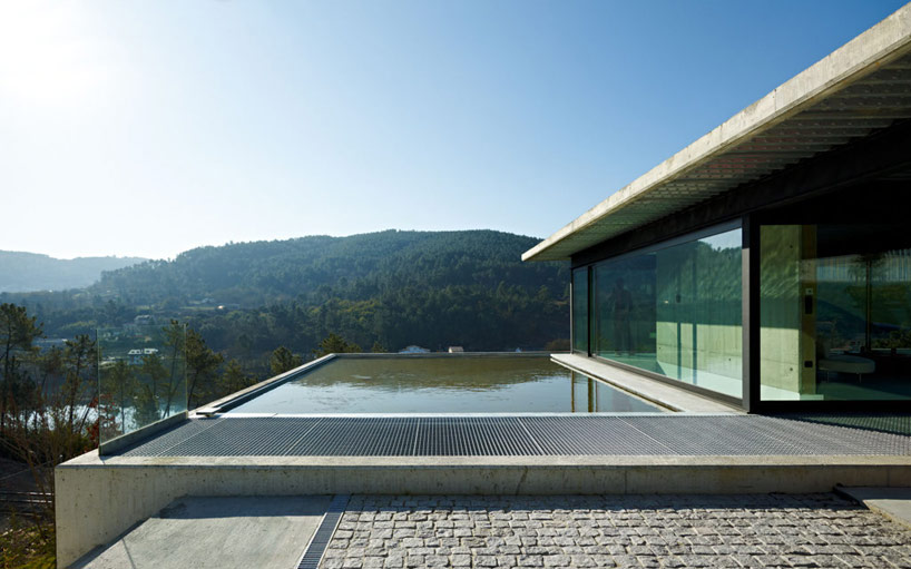 exterior courtyard with pool