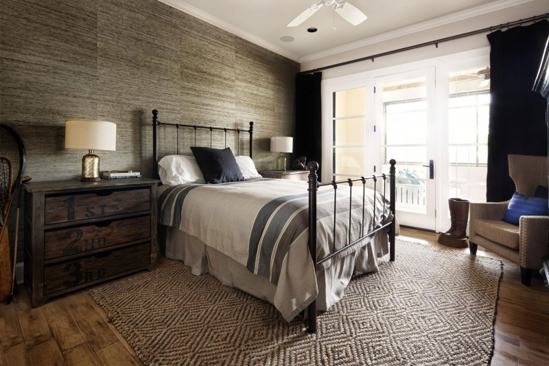 Rustic texas home with modern design and luxury accents Modern vintage master bedroom