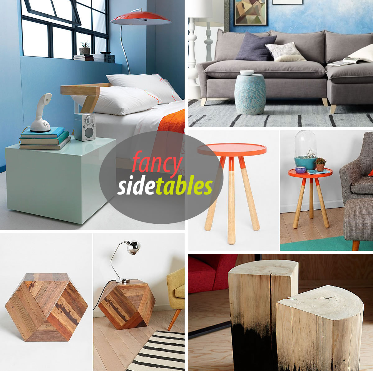 fancy sidetables