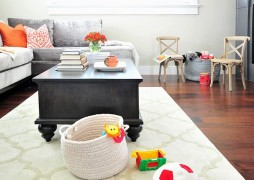 kids friendly living room filled with toys
