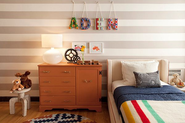 kids name on the wall DIY project Six Ways for Your Five and Under Kids to Feel at Home in Every Room