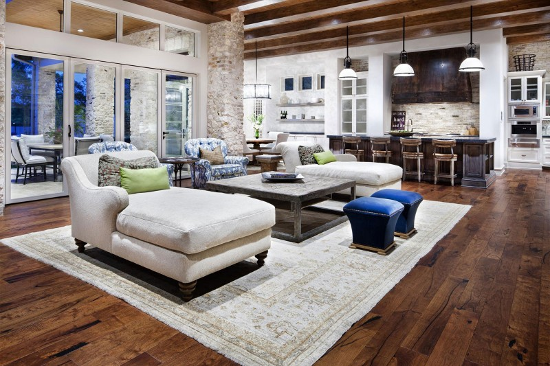 Living Room Rustic Texas Home With Modern Design And Luxury Accents