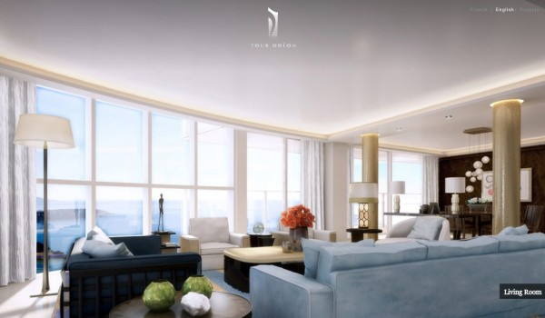 luxury penthouse - view in Monaco