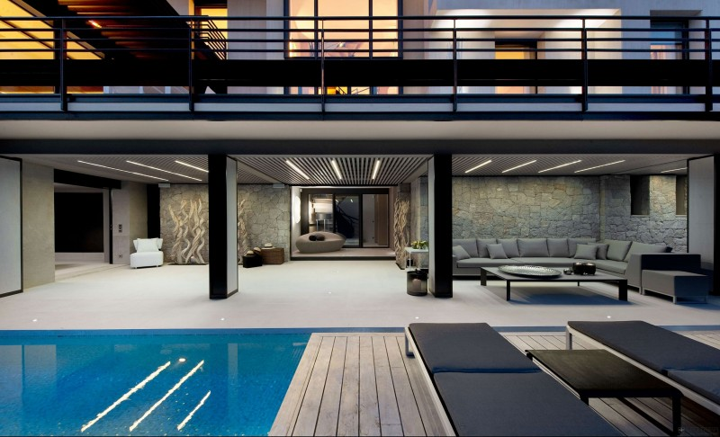 luxury pool and patio