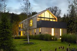 Maison Glissade Private Ski Club Home In Canada Has a Minimalist Appeal
