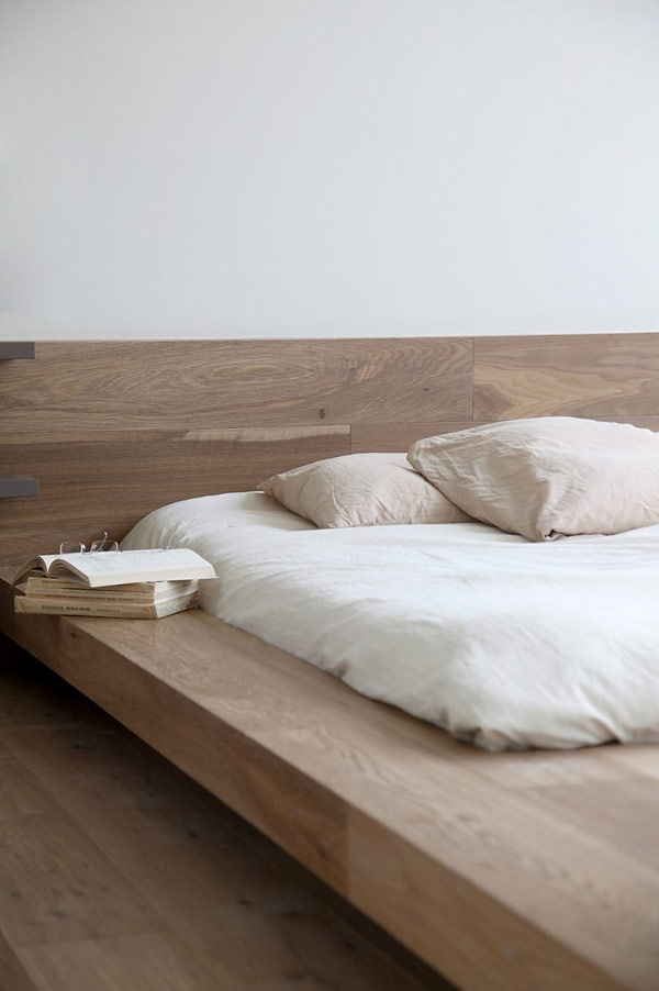 minimalist bed frame - japanese influences
