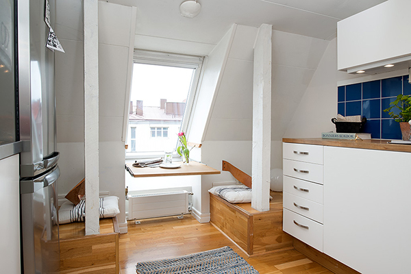 small and functional attic apartment