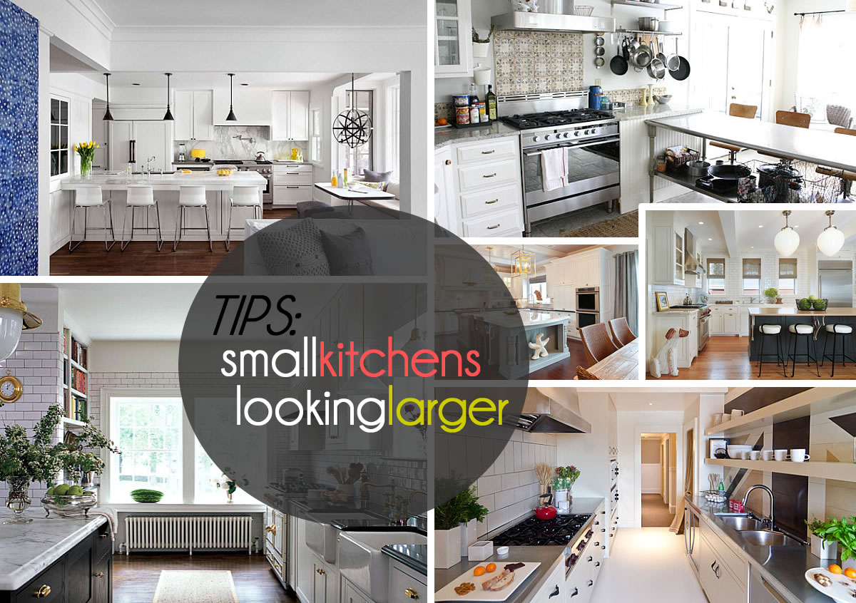 small kitchens looking larger Kitchen Decorating Tips That Make the Most of Your Space
