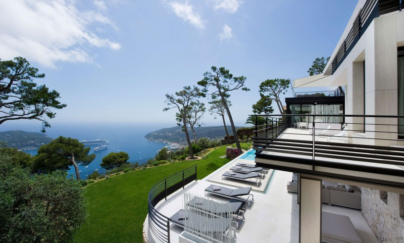 stunning french villa design - french riviera