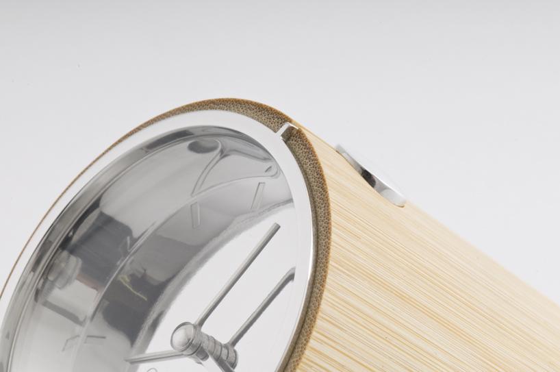 stylish bamboo clock