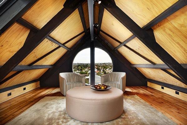 ultra modern attic