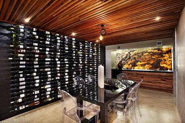 villa with wine tasting room