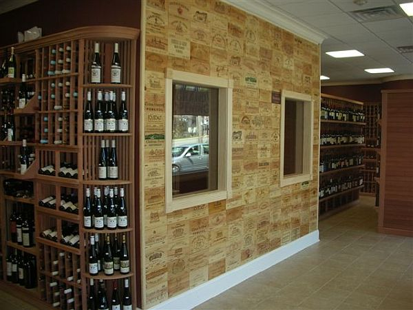 wall tiles from wine crates
