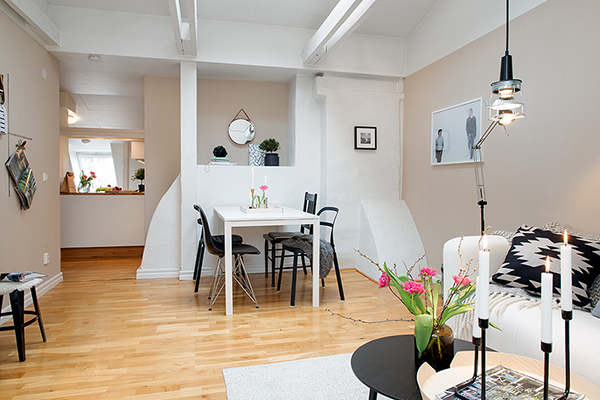 white attic apartment stockholm
