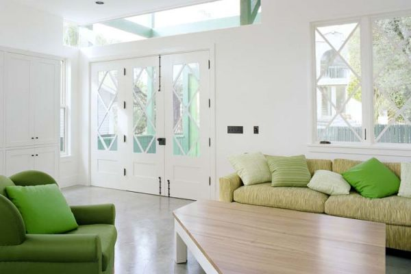 Accentuate with freshness fifty two modern neutral for Neutral green living room