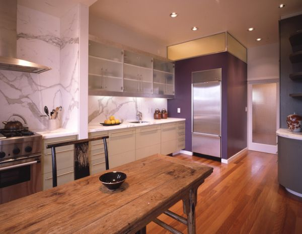 Add a bit of purple to your kitchen for a playful and bold appeal